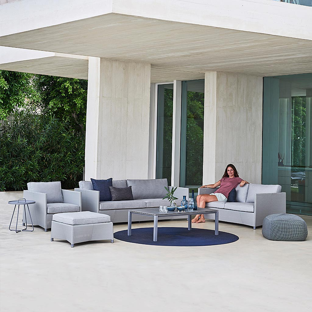 Diamond ALL-WEATHER Rattan Sofa. CLASSIC Rattan Garden SOFAS and LOUNGE CHAIR In HIGH QUALITY Garden Sofa MATERIALS By CANE-LINE Outdoor Cane FURNITURE.