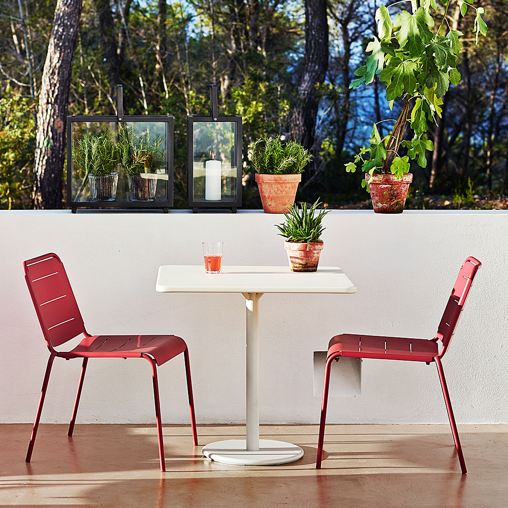 COPENHAGEN Modern Outdoor DINING FURNITURE. Garden TABLE And BENCHES, STACKING Garden CHAIRS, ALL-WEATHER Furniture. CANE-LINE Designer Garden Furniture.