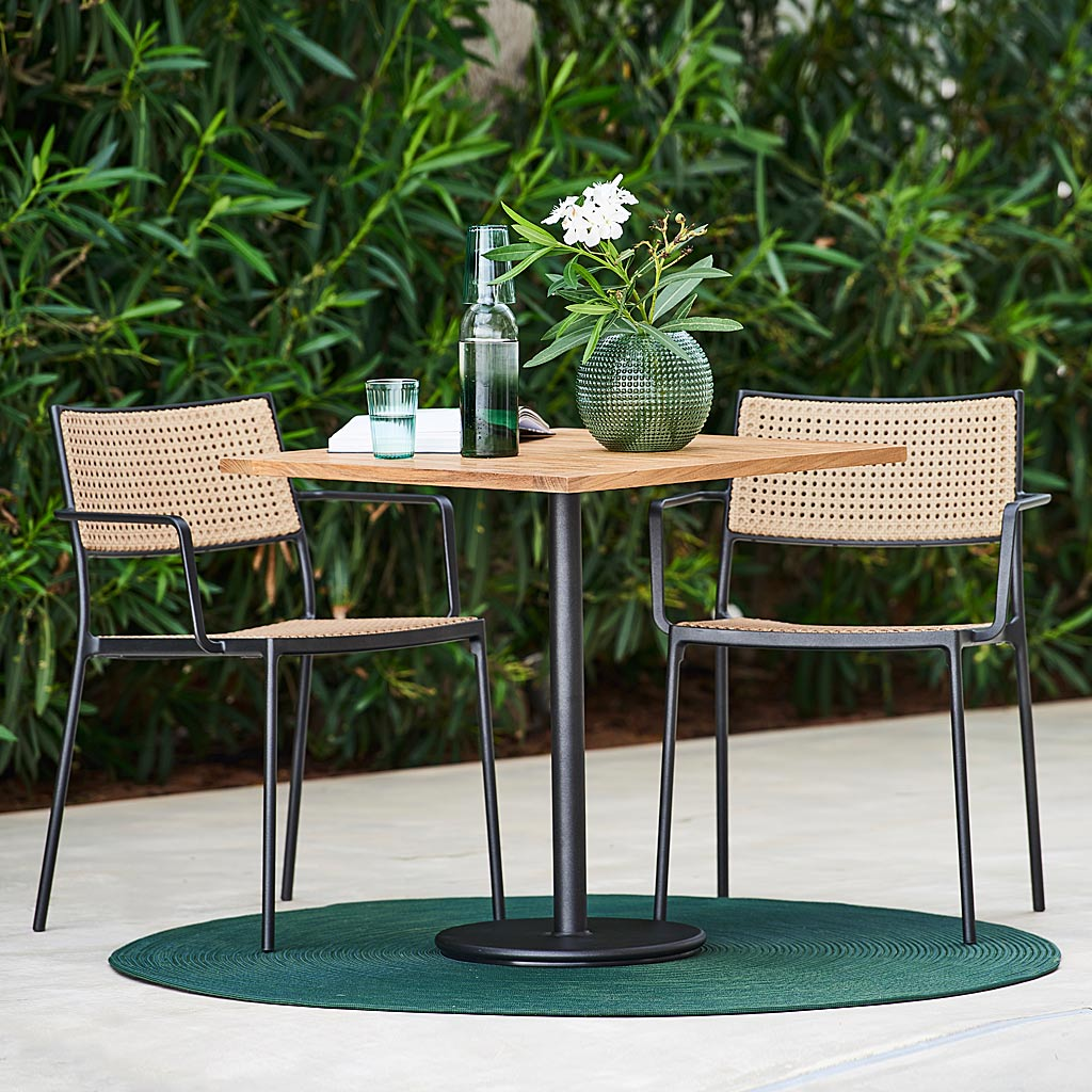 Go Bistro Table & Less MODERN Garden CHAIR. MINIMALIST Outdoor CARVER Chair & STACKING Garden Chair, LUXURY Garden FURNITURE Materials. CANE-LINE All-Weather Garden Furniture.