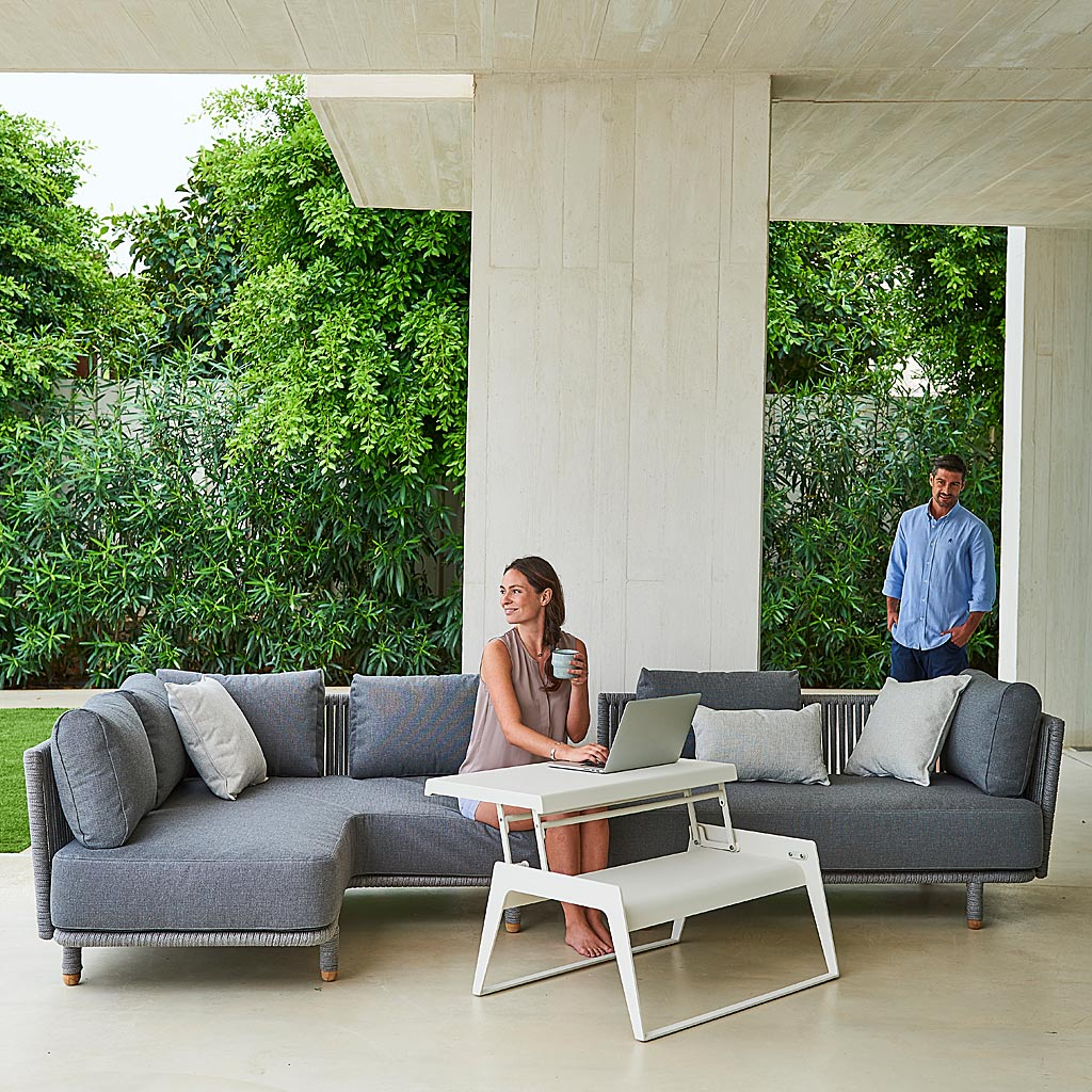 MOMENTS Modern Garden SOFAS. LUXURY Outdoor LOUNGE Set In HIGH QUALITY Garden Furniture MATERIALS By Cane-line ALL-WEATHER Outdoor Furniture Company.
