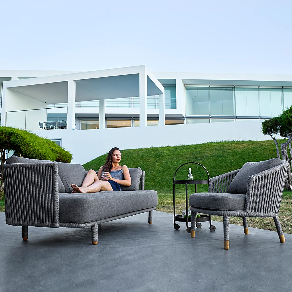 Moments Lounge Chair & MOMENTS Modern Garden SOFAS. LUXURY Outdoor LOUNGE Set In HIGH QUALITY Garden Furniture MATERIALS By Cane-line ALL-WEATHER Outdoor Furniture Company.