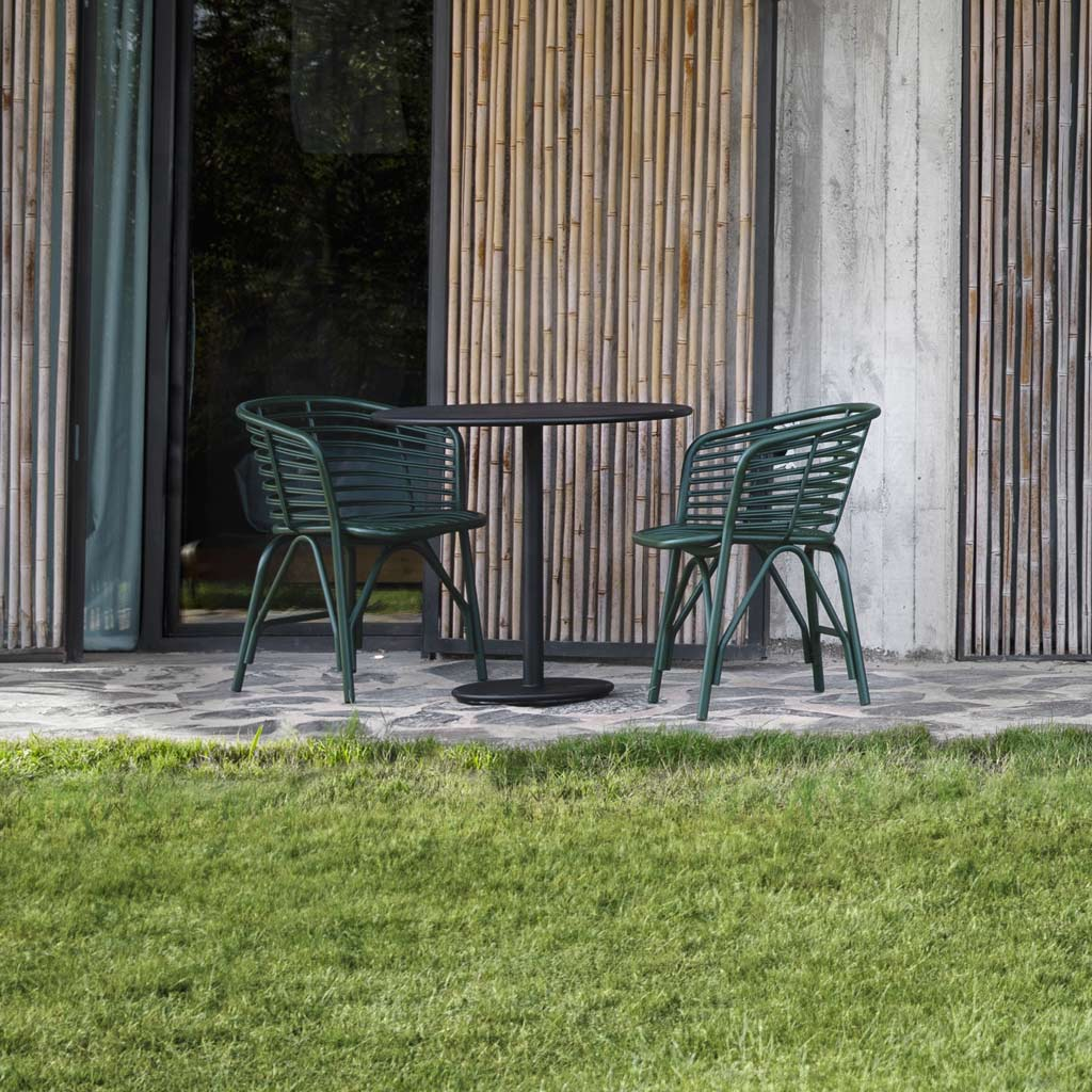 Go Table & Blend ALL-WEATHER Dining Chair Is A MODERN Garden CARVER CHAIR In HIGH QUALITY Garden Furniture MATERIALS By Cane-line Luxury Outdoor Furniture