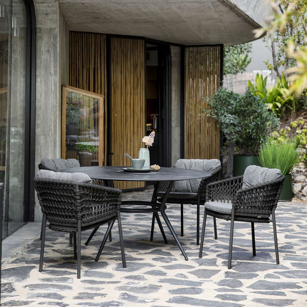 Joy Table & Ocean GARDEN DINING CHAIR Is A MODERN Outdoor CARVER Chair In LUXURY Exterior Furniture MATERIALS By Cane-line ALL-WEATHER Outdoor FURNITURE