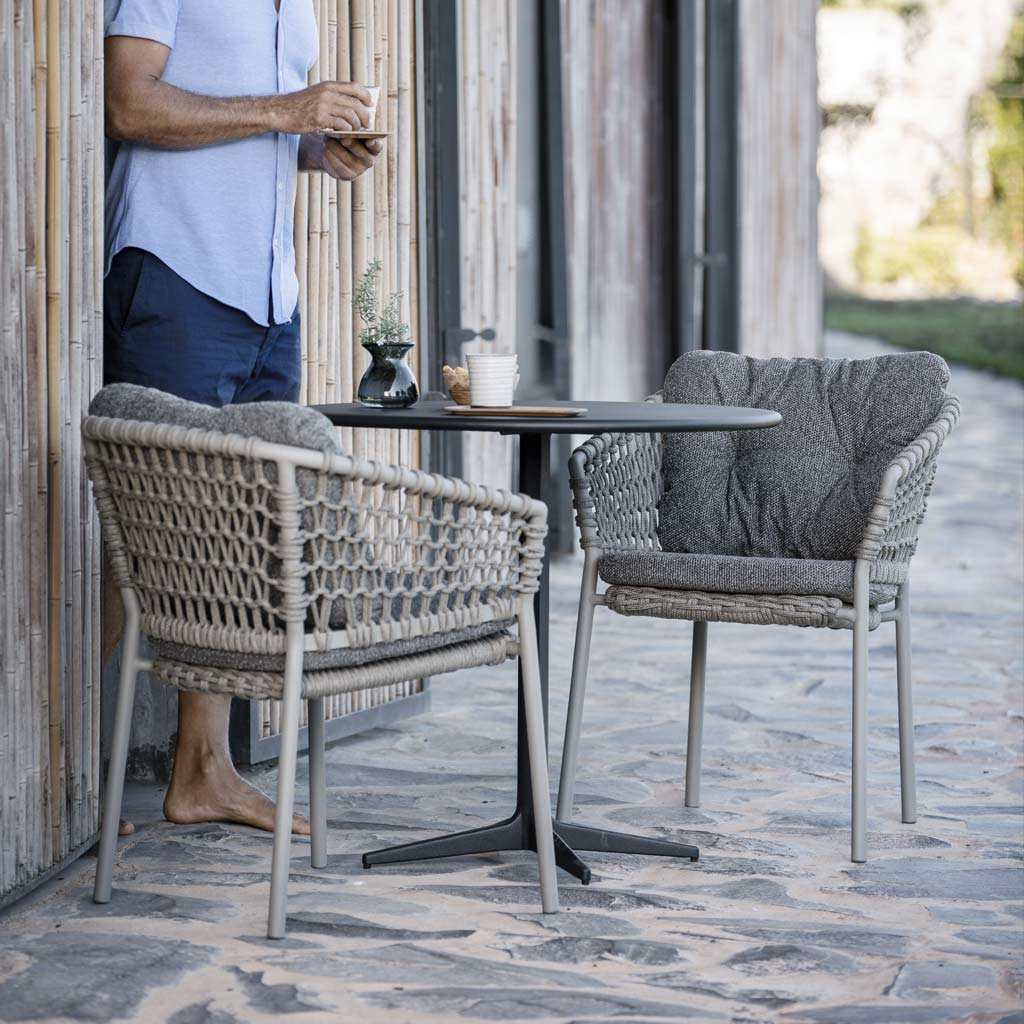 Ocean GARDEN DINING CHAIR Is A MODERN Outdoor CARVER Chair In LUXURY Exterior Furniture MATERIALS By Cane-line ALL-WEATHER Outdoor FURNITURE