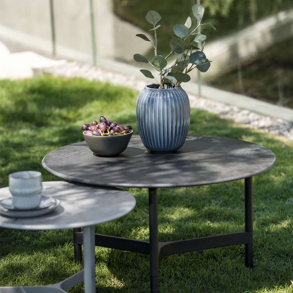 Twist MODERN Garden COFFEE TABLE Is A LUXURY Exterior Low Table In PREMIUM QUALITY Outdoor Furniture MATERIALS By Cane-line GARDEN FURNITURE