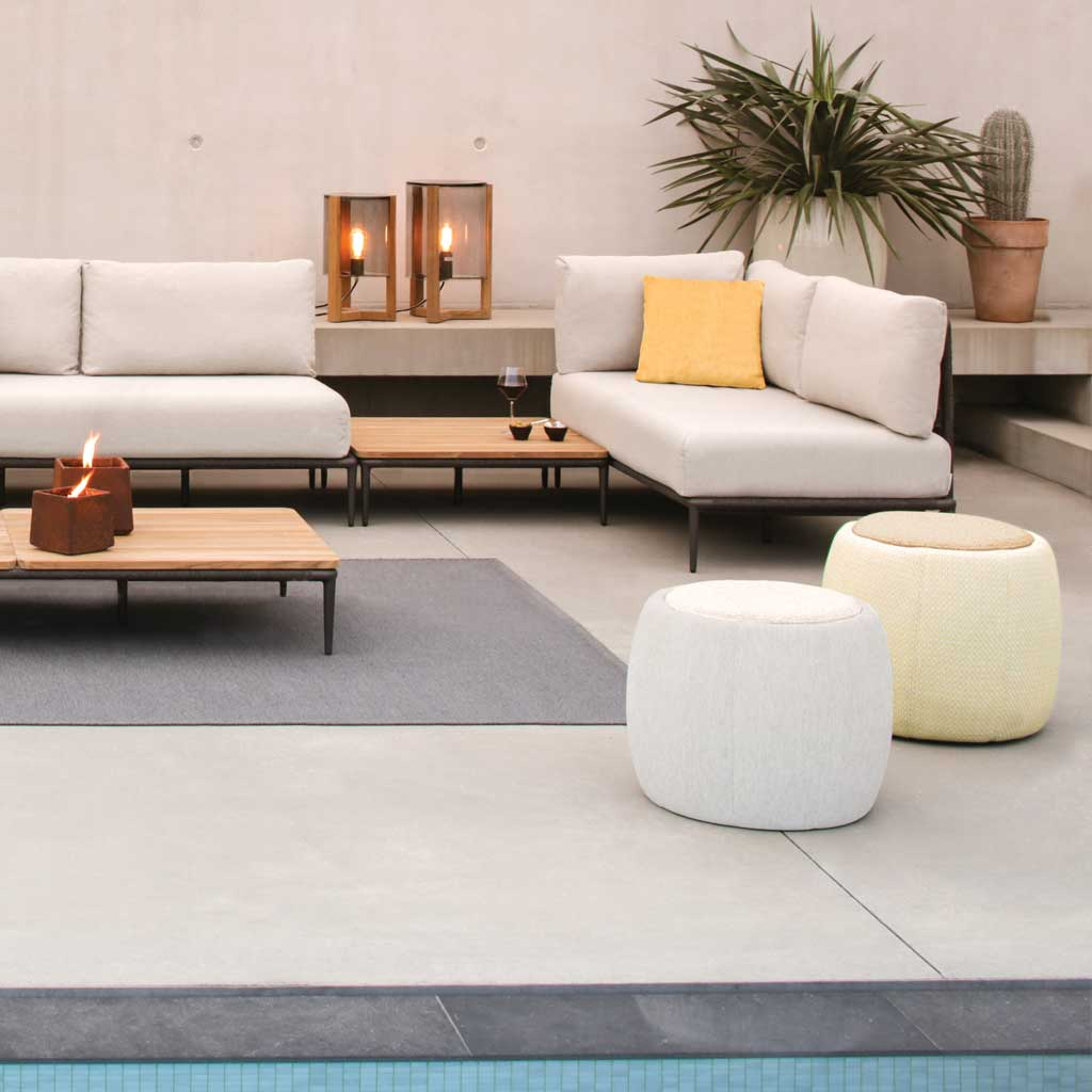 Lusit Garden Sofa & Tono MODERN GARDEN POUF Is A LUXURY Outdoor Pouffe In HIGH QUALITY Garden Furniture MATERIALS By Royal Botania Outdoor Furniture Company