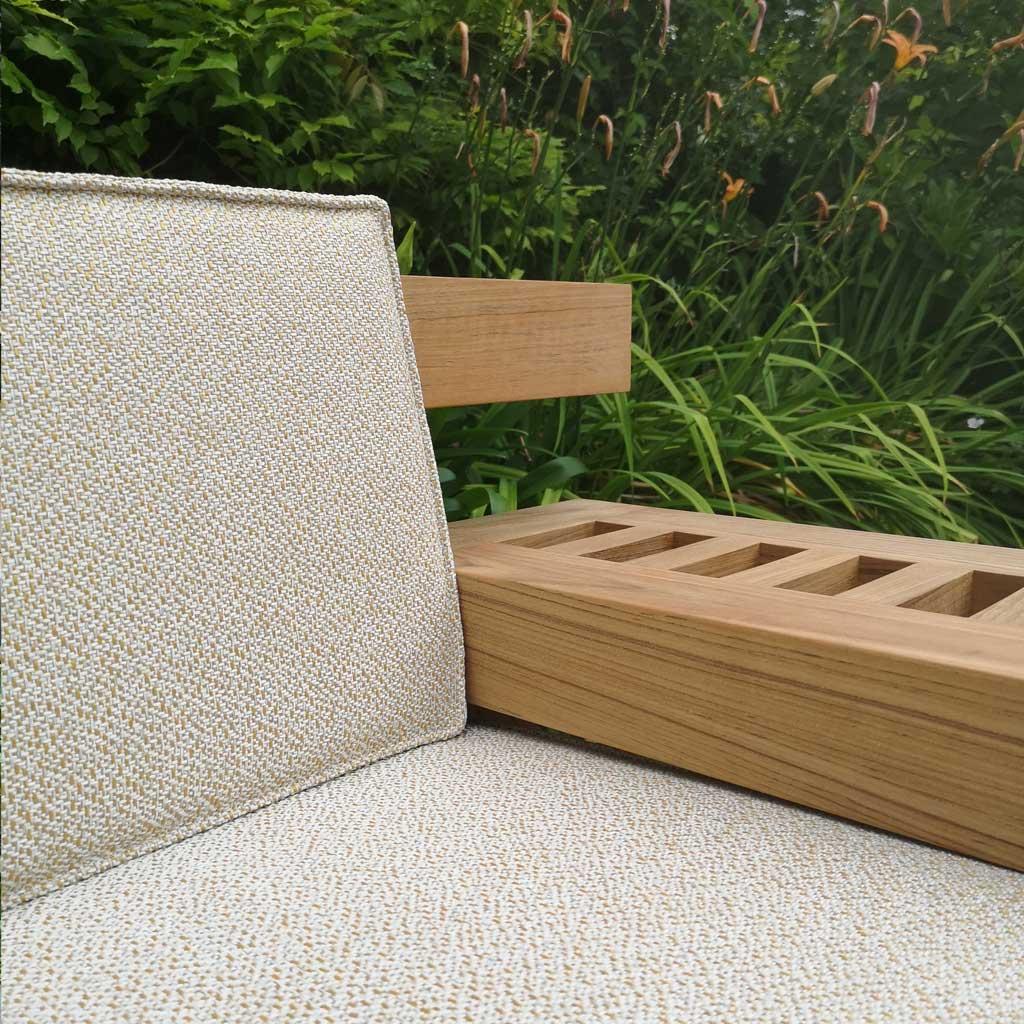 NARA Modern TEAK Garden Bench - Outdoor LOUNGE Bench, INDIVIDUAL Lounge BENCH And Bench Seat - High Quality Teak Furniture By ROYAL BOTANIA